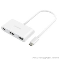 Cáp chuyển USB Type C sang HDMI + USB 3.0 Ugreen 30377