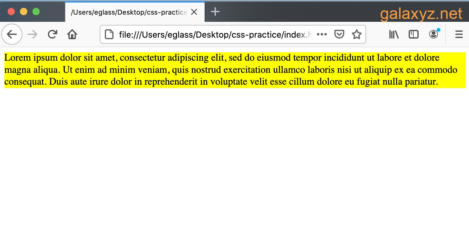 Trang web có văn bản trong containers  <div> màu vàng