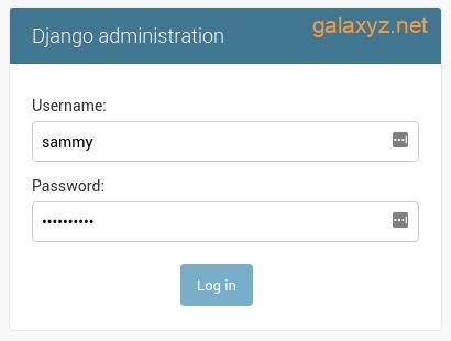 Đăng nhập quản trị Django
