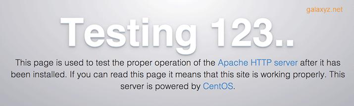 CentOS 7 Apache mặc định
