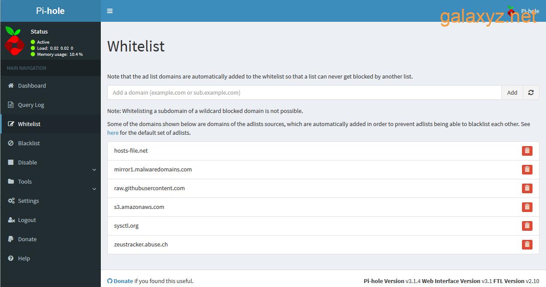 Giao diện web Màn hình danh sách trắng mặc định